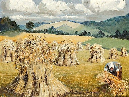 **Paul-Emile Pissarro 1884-1972 (French) Les bles a Bellevue oil on canvas