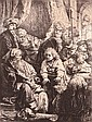 Rembrandt Harmenszoon van Rijn 1606-1669 (Dutch) Joseph telling his dreams, 1638 (B., Holl. 37; H. 160) etching