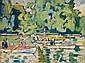 Louis Valtat 1869-1952 (French) Barques au bois de Boulogne, 1938 oil on canvas