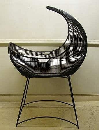 Kenneth Cobonpue b.1968 (Philippine) Baby Crib aluminum, polyethylene, stainless steel