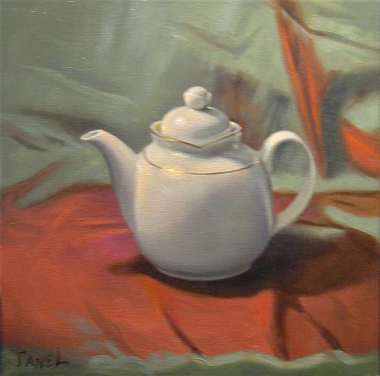 Daniel Sergio b.1962 (Israeli) Teapot oil on canvas