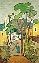 Shmuel Schlesinger 1896-1986 (Israeli) Pioneer in Jaffa oil on canvas, Shmuel Schlesinger, Click for value