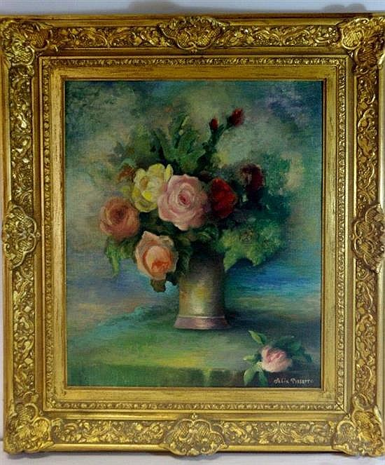**Félix Pissarro 1917-1984 (French) Bouquet de fleurs oil on panel