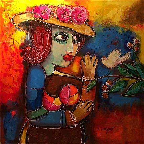 Jacob Chayat b.1939 (Israeli) Woman, 2015 oil on canvas