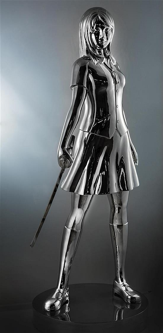 **Hiro Ando b.1973 (Japanese) School girl - Yuki U, 2015 polished stainless steel, edition of 8