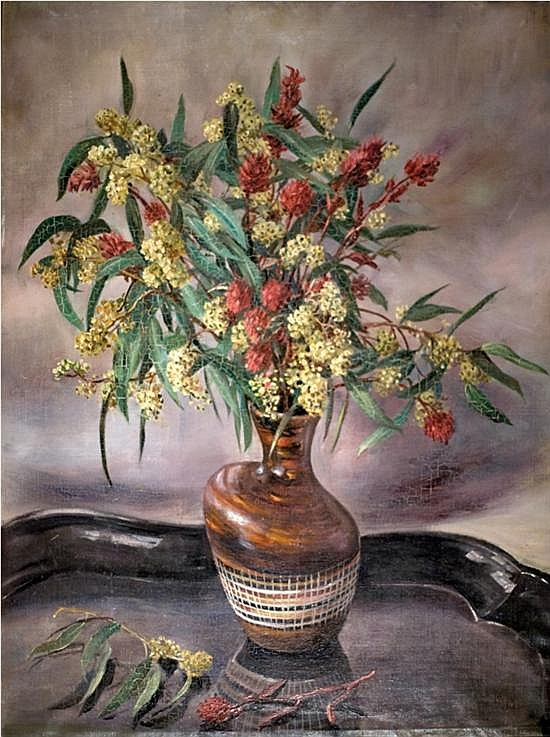Ann Medalie 1896-1991 (Israeli) Flower bouquet oil on canvas