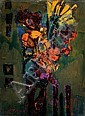 Zvi Mairovitch 1911-1974 (Israeli) Flowers oil on canvas, Zvi Mairovitch , Click for value