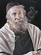 Otto Eichinger 1922-2004 (Austrian) Rabbi oil, Otto Eichinger, Click for value