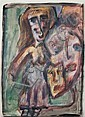 Osias Hofstatter 1905-1994 (Israeli) Untitled guoache on paper, Osias Hofstätter, Click for value