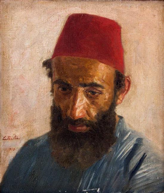 Lazar Krestin 1868-1938 (Lithuanian, Austrian) Jerusalem Jew, 1920 oil on canvas