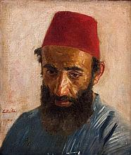 Lazar Krestin 1868-1938 (Lithuanian, Austrian) Jerusalem Jew, 1920 oil on canvas
