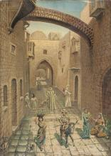 Rudolfh Anderson 19th century Nordic School Alley in the old city, Jerusalem, 1886 oil on canvas