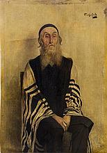Alois Heinrich Priechenfried 1867-1953 (Austrian) Portrait of a Rabbi oil on panel