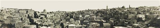 W. R. Wallace 19th-20th century Panorama of Jerusalem, c.1910 vintage silver print