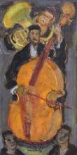 **Mané Katz 1894-1962 (Ukrainian, French) Musicians oil on canvas