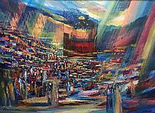 **Yoram Raanan b.1953 (Israeli) Untitled oil on canvas