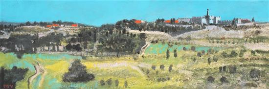 **Oded Feingersh b.1938 (Israeli) Jerusalem oil on canvas