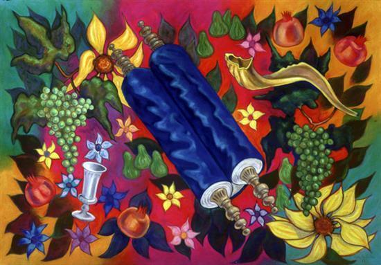 Aldo Di-Castro 1932- 2004 (Italian) The Torah, 1987 lithograph