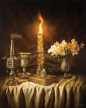 Albert Benaroya b.1963 (Israeli) Havdallah oil on canvas