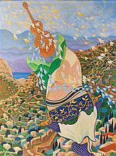 Baruch Nachshon b.1939 (Israeli) Song for Jerusalem, 1981-2 oil on canvas