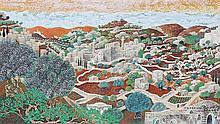 Baruch Nachshon b.1939 (Israeli) Jerusalem oil on canvas