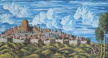 Gabriel Cohen b.1933 (French, Israeli) The lion of Jerusalem, 1984 oil on canvas