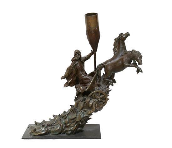 Ofra Friedland b.1959 (Israeli) Eliyahu bronze