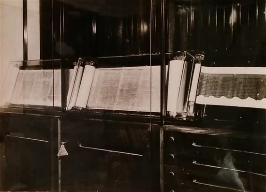 Boris Carmi 1914 - 2002 (Russian, Israeli) Torah scrolls original photograph