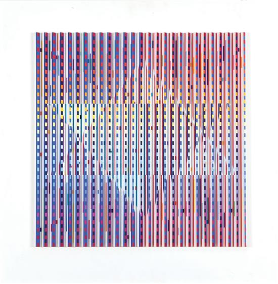Yaacov Agam b.1928 (Israeli) Star of David, 1983 superkinetic