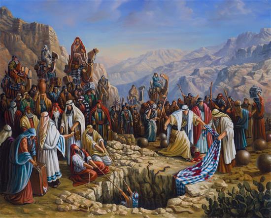 Yossi Rosenstein b.1950 (Israeli) The selling of Yosef, 2002 oil on canvas