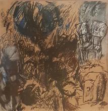 Aviva Uri 1927-1989 (Israeli) Untitled, 1972 charcoal, panda, and color crayons on paper