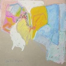 John Byle 1928-2015 (American, Israeli) Abstract panda on paper