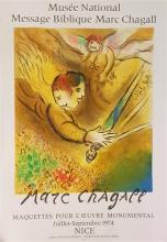 "Marc Chagall 1887-1985 (Russian, French) ""Musee National, Message Biblique Marc Chagall"", 1974 lithographic poster, published by Mou..."