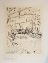 Pierre Bonnard 1867-1947 (French) Le Jardin d'enfant etching and aquatint
