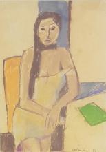Aldo Salvadori 1905-2002 (Italian) Girl in an interior, 1997 pastel on paper