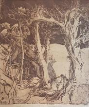 Horst Janssen 1929-1995 (German) Trees, 1984 woodcut