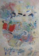 Zahava Lupu b. 1948 (Israeli) Abstract, 1999 oil on paper mounted on canvas