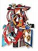 Touvia b.1980 (Israeli) Picasso painted hand cut aluminum, Basanson Touvia, Click for value