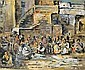 ** Ludwig Schwerin 1897-1983 (Israeli) Jerusalem street scene, 1953 gouache and wash on paper, Ludwig Schwerin, Click for value