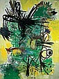 ** Lea Nikel 1918-2005 (Israeli) Untitled, 1956 oil on canvas, Lea Nikel, Click for value