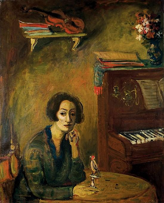** Abraham Mintchine 1898-1931 (Ukranian) Madame Mintchine oil on canvas