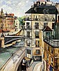 ** Elisee Maclet 1881-1962 (French) L'ile St. Louis, Paris oil on canvas, Elisee Maclet, Click for value