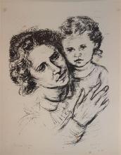 Miron Sima 1902-1999 (Israeli) Hanna Rubina, Jerusalem 1937, Portfolio includes 10 lithographs lithograph