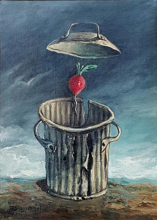**Yosl Bergner b.1920 (Israeli) Return to the radish, 1970 oil on canvas