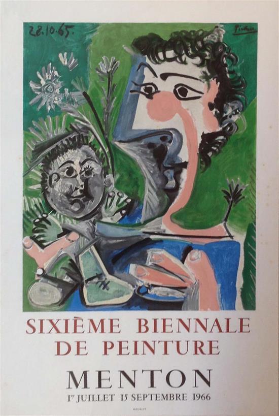 Pablo Picasso 1881-1973 (Spanish) Sixieme Biennale De Peinture 1965-66,
