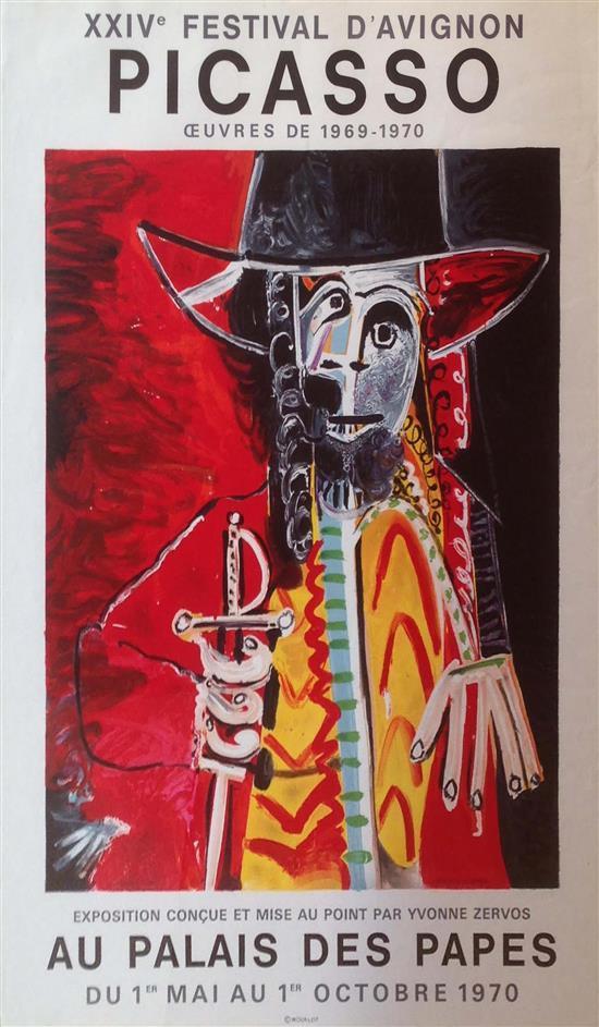 Pablo Picasso 1881-1973 (Spanish) XXIV Festival d'Avignon, Oeuvres de 1969-1970 exhibition,