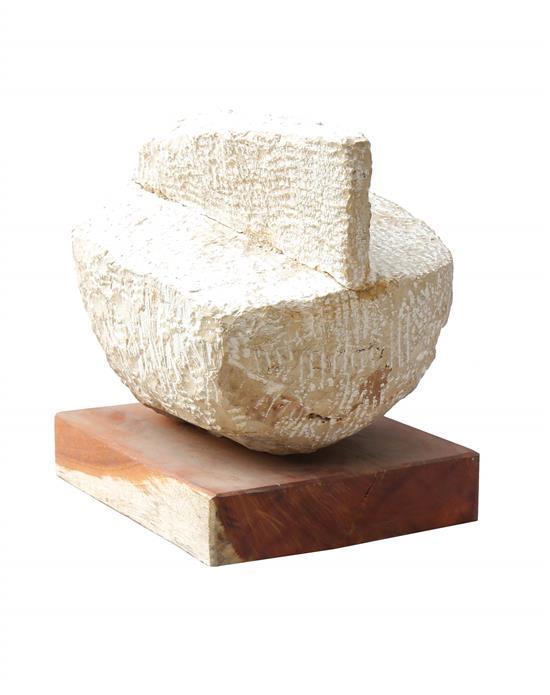 Michael Gross 1920-2004 (Israeli) Untitled stone on wooden base