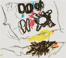 Aviva Uri 1927-1989 (Israeli) Untitled, 1973 mixed media on paper