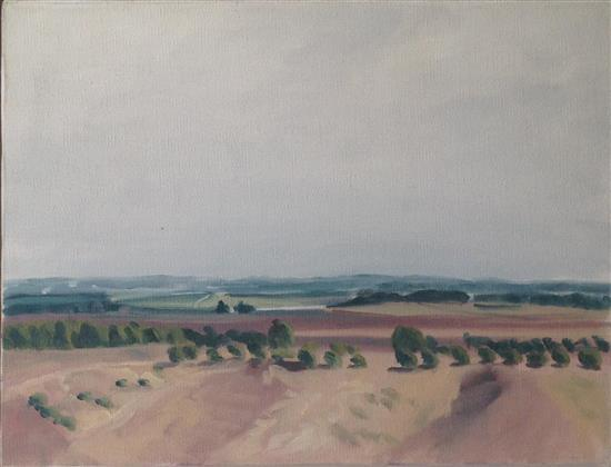 Shalom Flash b.1948 (Israeli) Landscape oil on canvas