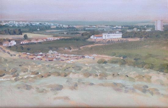 Shalom Flash b.1948 (Israeli) Landscape oil on canvas